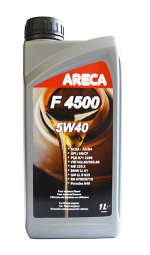 Моторное масло Areca F4500 5W-40 1л