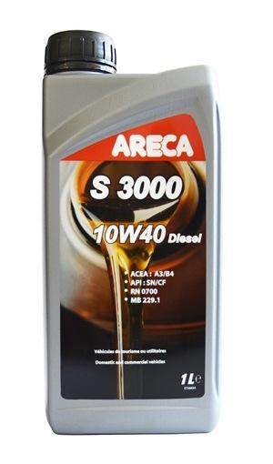 Моторное масло Areca S3000 10W-40 Diesel 1л