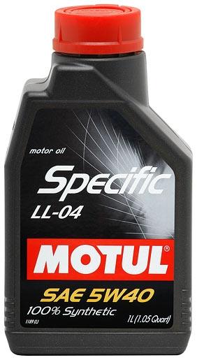 Моторное масло Motul Specific LL-04 5W-40 1л