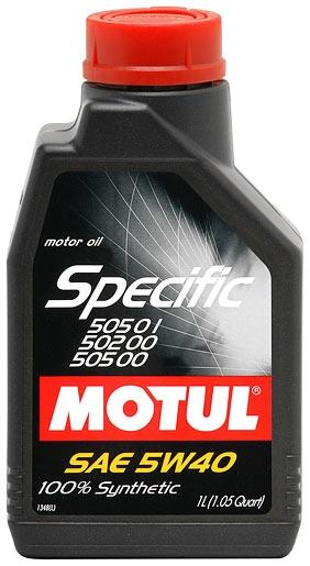 Моторное масло Motul Specific 505 01/502 00/505 00 5W-40 1л