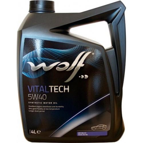 Моторное масло Wolf Vital Tech 5W-40 4л
