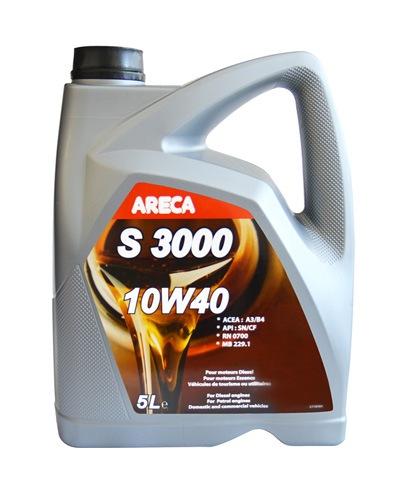 Моторное масло Areca S3000 10W-40 5л