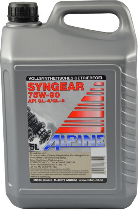 Трансмиссионное масло Alpine 85W-90 LS 1л