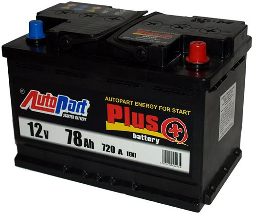 Аккумулятор AutoPart Plus R+ (77Ah)