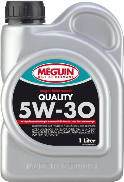 Моторное масло Meguin Megol Quality 5W-30 1л
