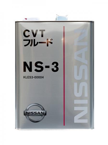 Трансмиссионное масло NISSAN CVT FLUID NS-3 4Л