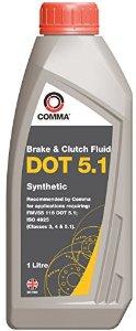 Жидкость тормозная Comma DOT 5.1 1л