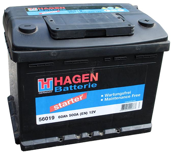 Аккумулятор Hagen 56019 (60 А·ч)