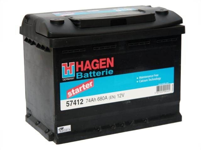 Аккумулятор Hagen 57412 (74Ah)