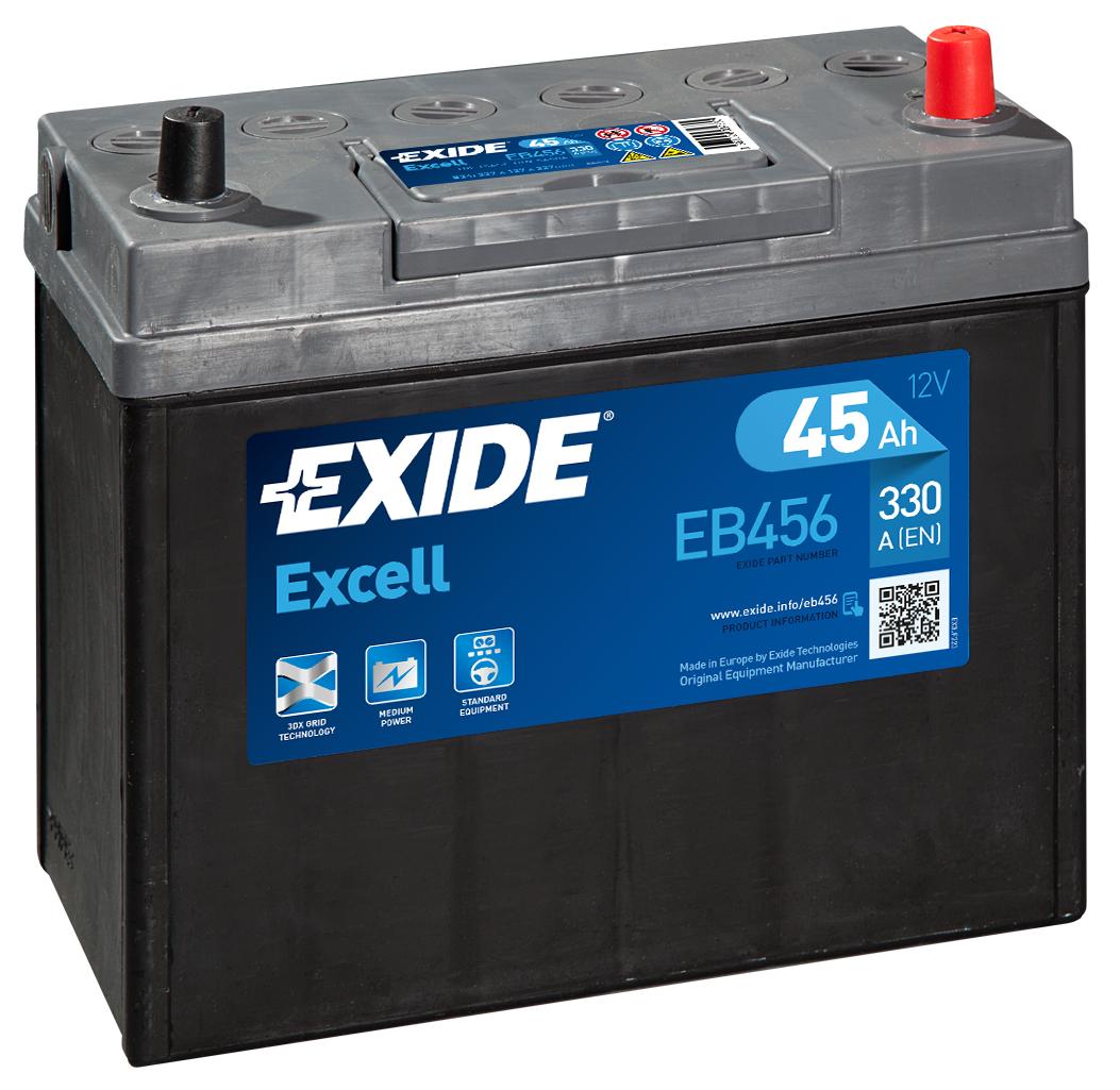 Аккумулятор Exide Excell EB456 JR+ (45Ah)