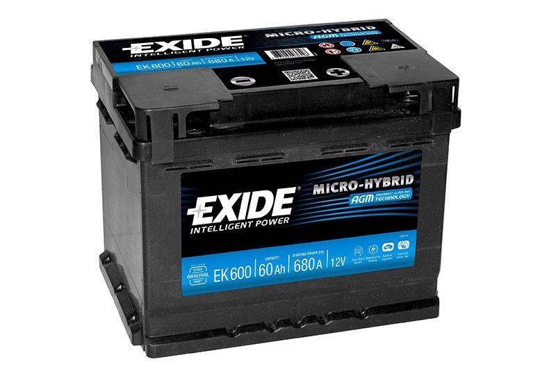 Аккумулятор Exide Micro-Hybrid AGM EK600 (60Ah)