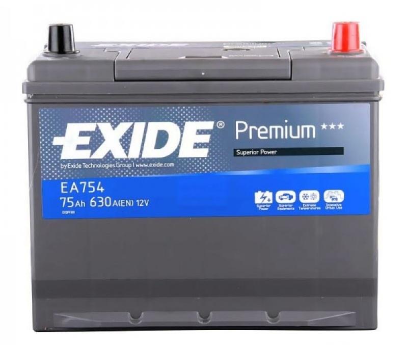 Аккумулятор Exide Premium EA754 (75Ah)