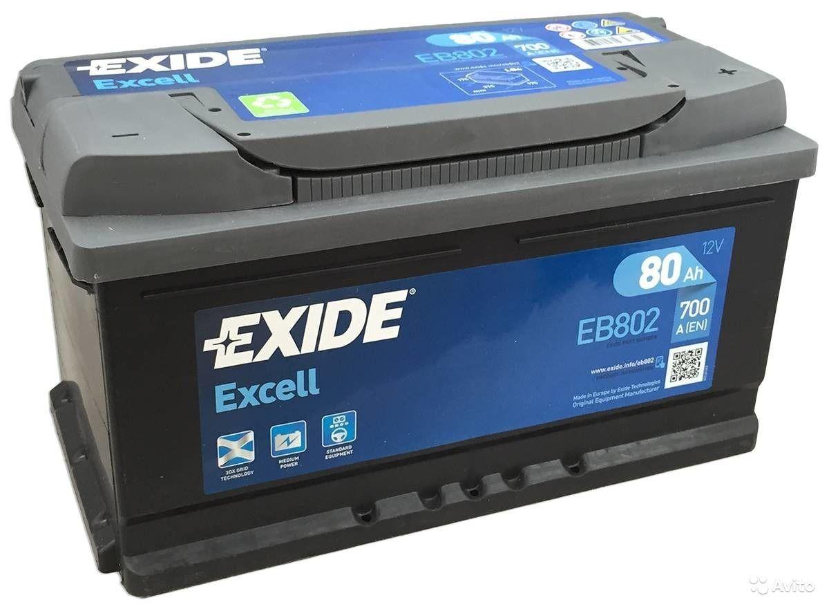 Аккумулятор Exide Excell EB802 (80Ah)