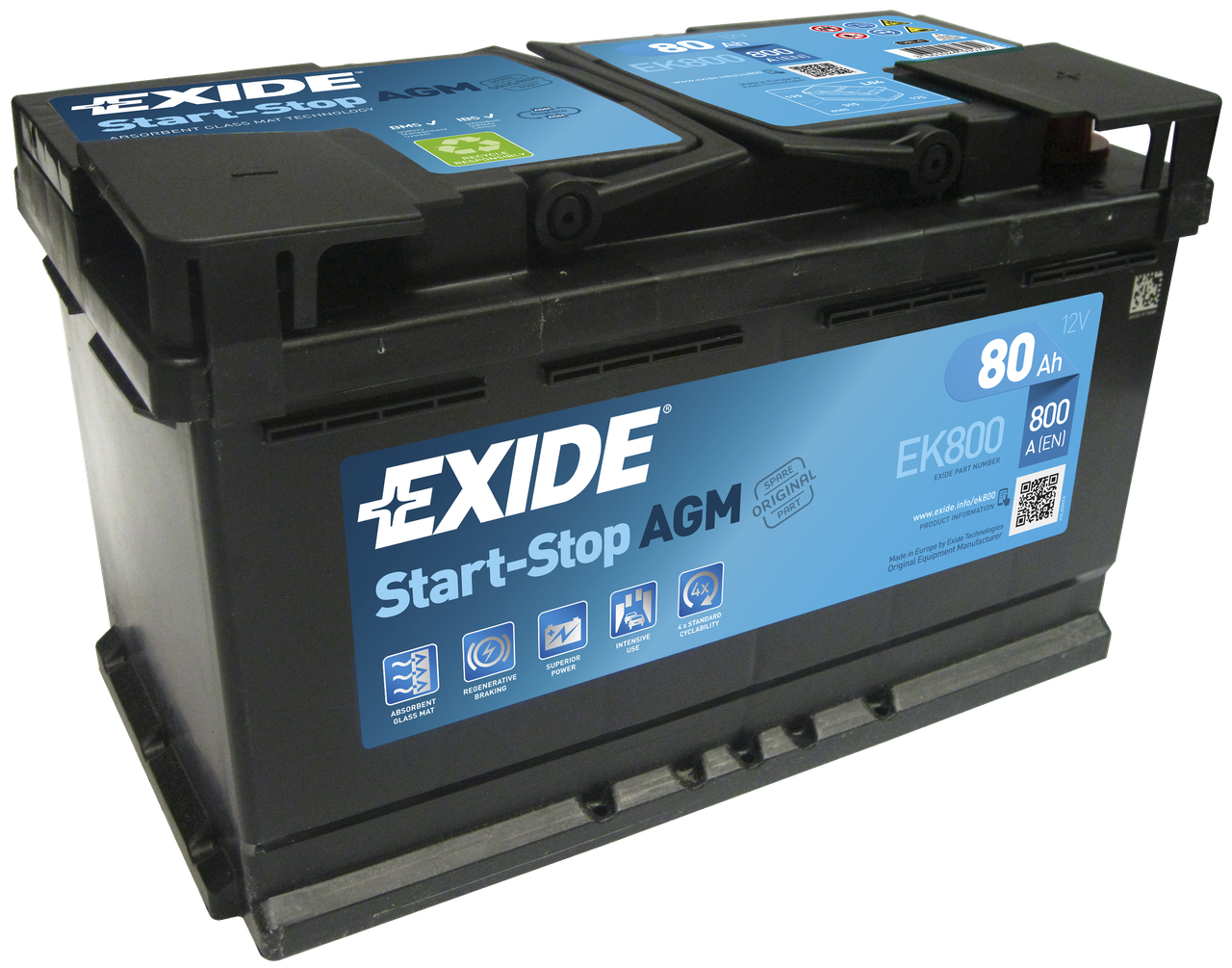 Аккумулятор Exide Micro-Hybrid AGM EK800 (80Ah)