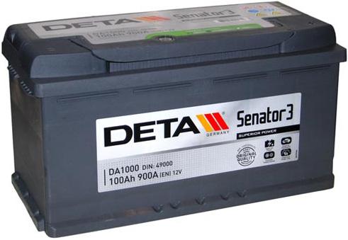 Аккумулятор Deta Senator 3 DA1000 (100Ah)