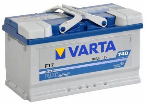 Аккумулятор Varta Blue Dynamic F17 (80 А/ч)