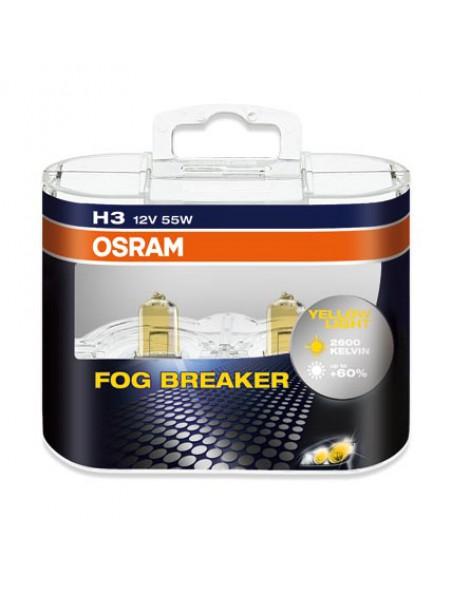 Лампа галогенная Osram H3 Fog Braker 2шт