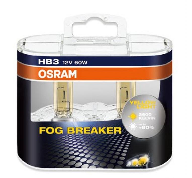 Лампа галогенная Osram HB3 Fog Breaker 2шт