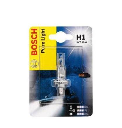 Лампа галогенная Bosch H1 Pure Light 1шт