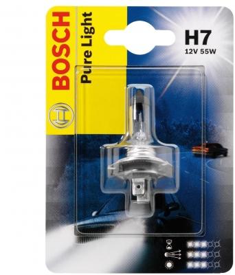 Лампа галогенная Bosch H7 Pure Light Blister 1шт