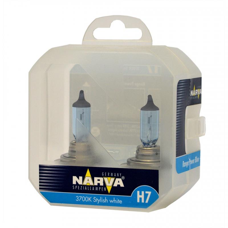 Лампа галогенная Narva H7 Range Power Blue 2 шт