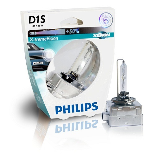 Лампа ксеноновая Philips D1S X-treme Vision +50% 1 шт (Заменена на Philips D1S X-treme Vision gen2 +150%)