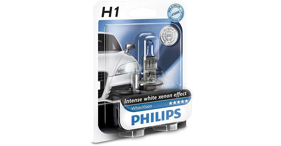 Лампа галогенная Philips H1 WhiteVision 1 шт