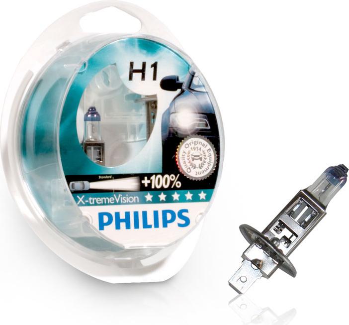Лампа галогенная Philips H1 X-Treme Vision 2 шт