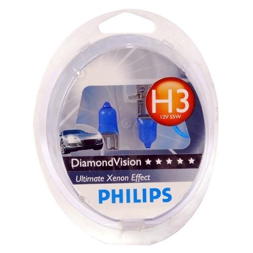 Лампа галогенная Philips H3 Diamond Vision 2 шт