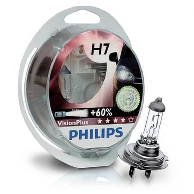 Лампа галогенная Philips H7 Vision Plus 2 шт