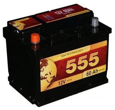 Аккумулятор 555 6СТ-60-А3 R (60 А/ч)