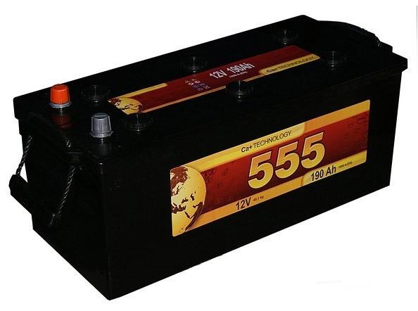 Аккумулятор 555 6СТ-190-А3 R (190 А/ч)