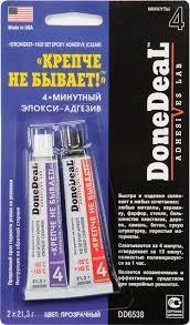DONE DEAL Холодная сварка 4-минутный эпокси-адгезив прозрачный 2*21.3гр