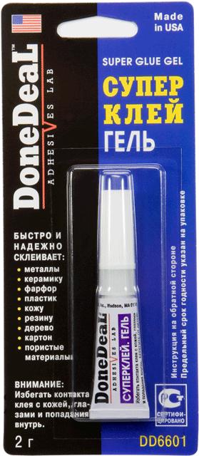 DONE DEAL Клей суперклей (гель) 2 гр