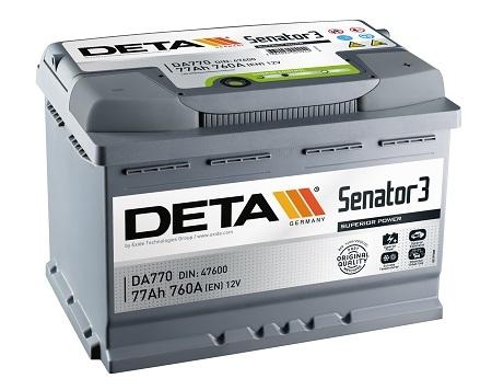 Аккумулятор Deta Senator 3 DA770 (77Ah)