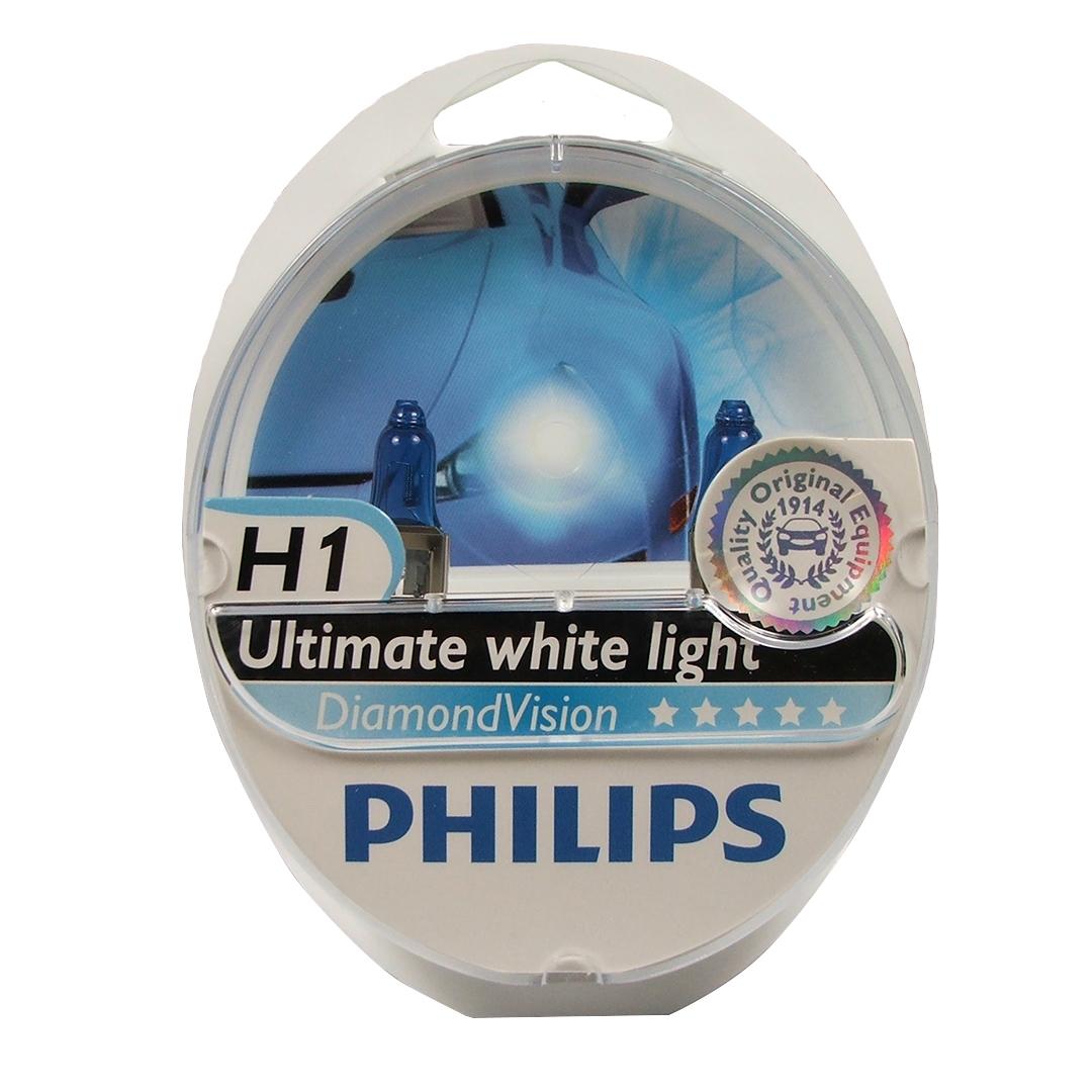 Лампа галогенная Philips H1 Diamond Vision 2 шт