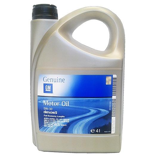 Моторное масло GM Longlife Dexos 2 5W-30 4л (RU)