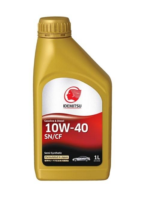 Моторное масло Idemitsu Semi-Synthetic SN/CF 10W-40 1л