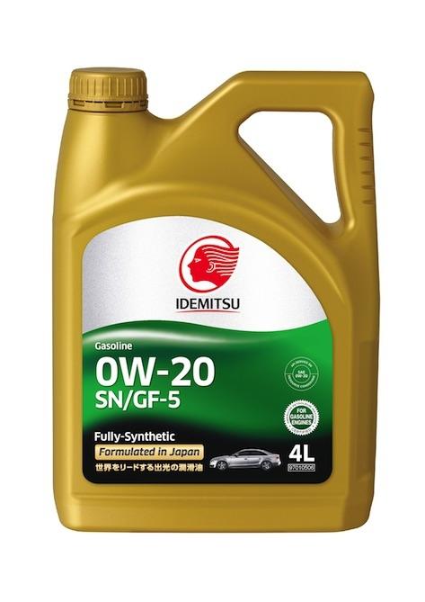 Моторное масло Idemitsu Fully-Synthetic SN/GF-5 0W-20 4л