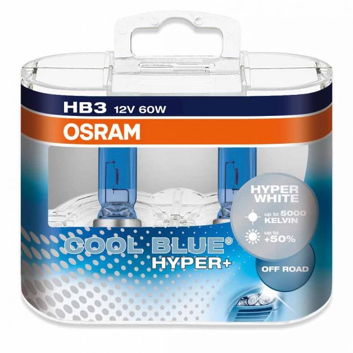 Лампа галогенная Osram HB3 Cool Blue Hyper Plus 2шт