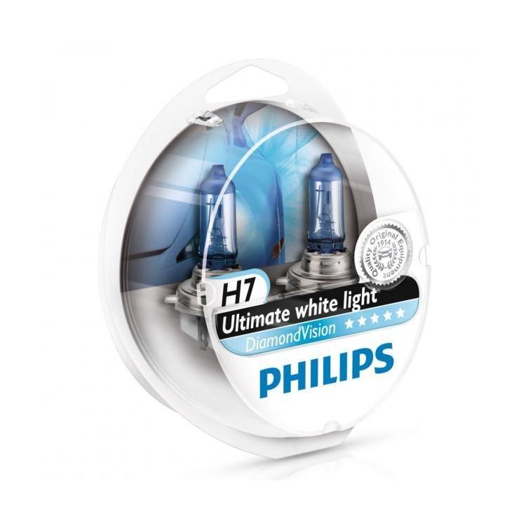 Лампа галогенная Philips H7 Diamond Vision 2 шт