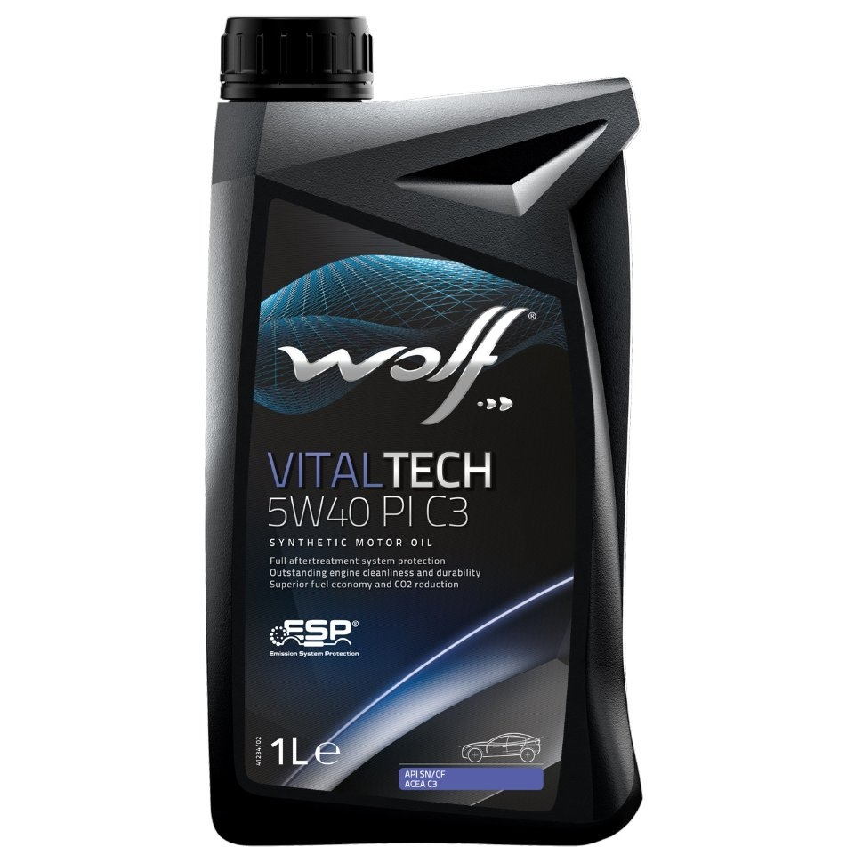 Моторное масло Wolf Vital Tech 5W-40 PI C3 1л
