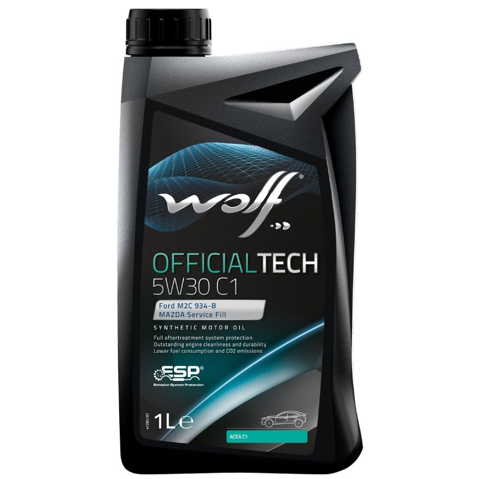 Моторное масло Wolf Official Tech 5W-30 C1 1л