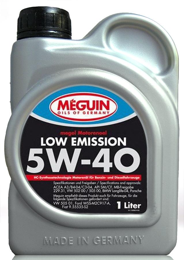 Моторное масло Meguin Megol Low Emission 5W-40 1л
