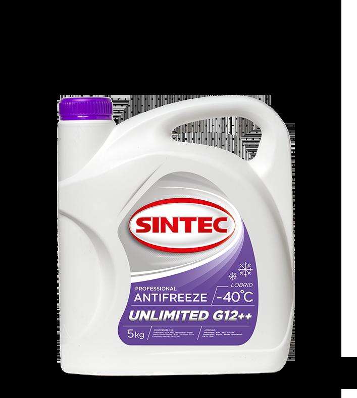 Антифриз Sintec ANTIFREEZE UNLIMITED  G12 + + 5кг