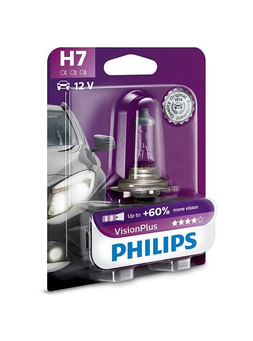 Лампа галогенная Philips H7 Vision Plus 1 шт