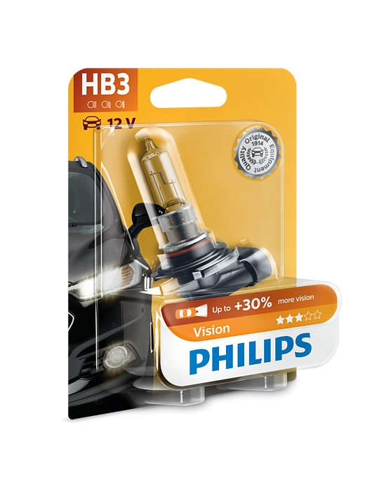 Лампа галогенная Philips HB3 Vision 1 шт