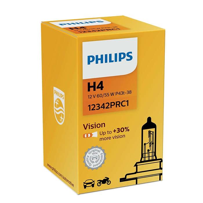 Лампа галогенная Philips H4 Vision 1шт