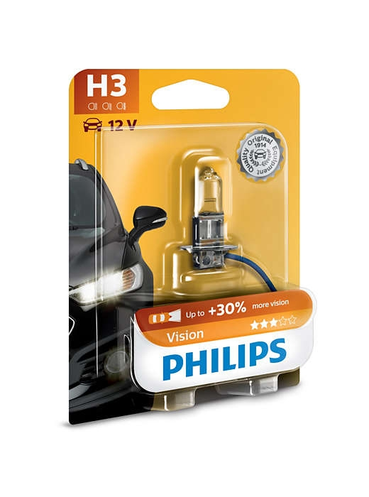 Лампа галогенная Philips H3 Vision 1 шт
