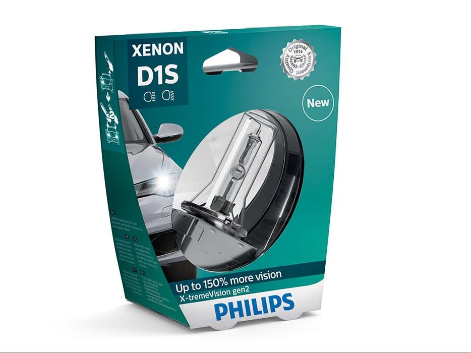 Лампа ксеноновая Philips D1S X-treme Vision gen2 1 шт (блистер)